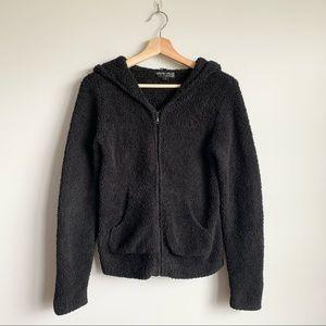 Barefoot Dreams Black Zip Up Black Hoodie Sweater